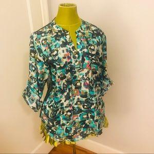 Collective Concepts multi-colored blouse, sz M